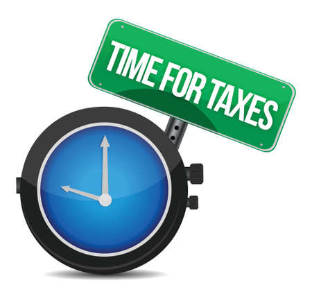 time for taxes illustration design over white Vector
