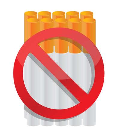 niet roken sigaret illustratie ontwerp over wit