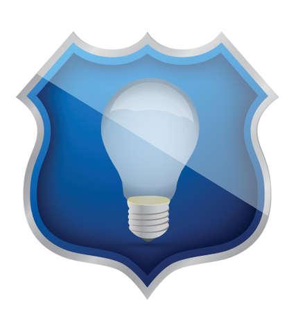 secure ideas light bulb illustration design over white Stock Vector - 16259124