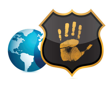 the americas: stay protected concept illustration design over white