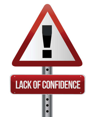 lack of confidence illustration design over white background Stock Vector - 16259144