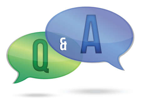 question and answer illustration design over white Illustration