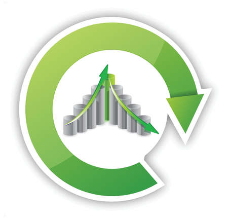 up and down business cycle illustration design over white Stock Vector - 16259170