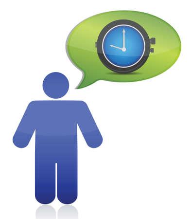 icon thinking on time illustration design over white