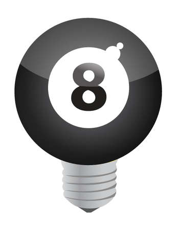 lucky idea concept eight ball illustration design Stock Vector - 16259203