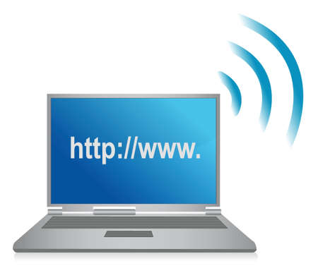 multimedia icons: http wifi browser illustration design over white
