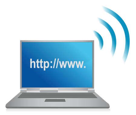 http: http wifi browser illustration design over white