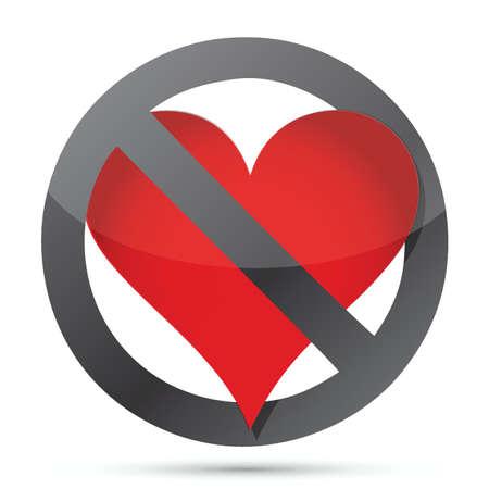 allegoric: do not heart illustration design over white