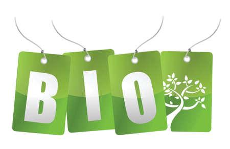bio tree tags illustration design over white Stock Vector - 16259228