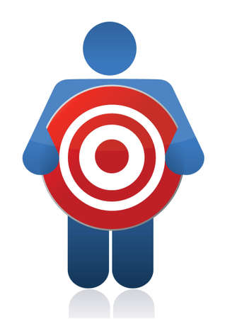 icon holding a target sign illustration design Stock Vector - 16259187