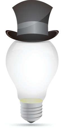 lightbulb hat illustration design over a white background Stock Vector - 16259193