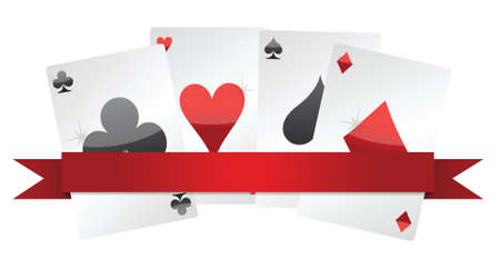 playing cards illustration design over white background