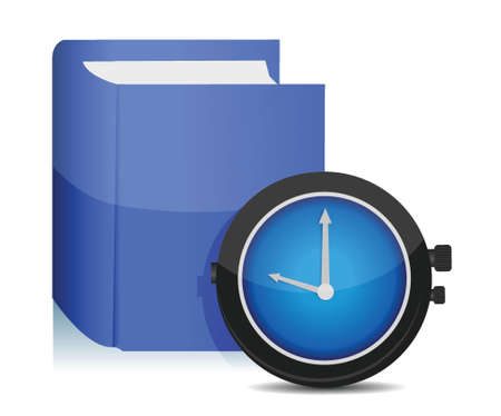time over: time to study concept illustration design over white