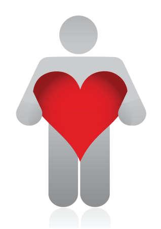 confess: heart icon illustration design over white background Illustration