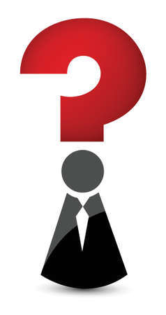 question mark tux icon illustration design over white Stock Vector - 16259251