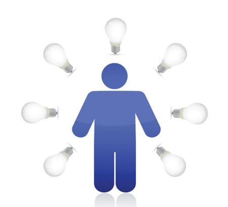 lightbulb around icon illustration design over a white background Stock Vector - 16259287
