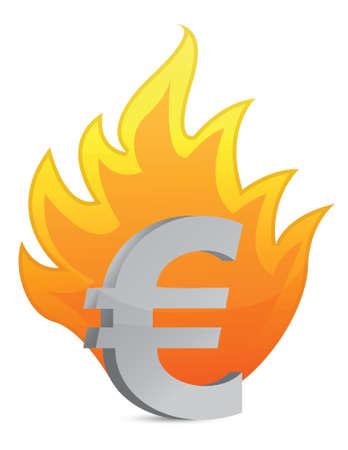 euro crisis illustration design over a white background