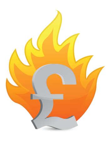 pound crisis illustration design over a white background Stock Vector - 16329669