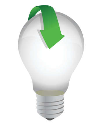 lightbulb arrow illustration design over a white background Stock Vector - 16329654
