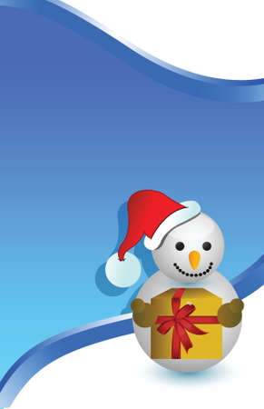 christmas snowman card background illustration design Vector
