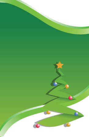 tree christmas illustration green design background Vector