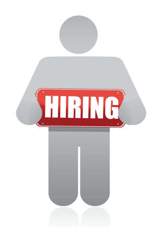 job opportunity: icon with a hiring sign illustration design over white Illustration