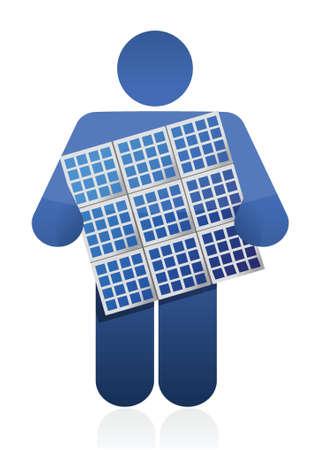 solar panel icon illustration design over white background Stock Vector - 16329651