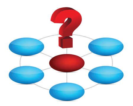 balls diagram and question mark illustration design Stock Vector - 16329696