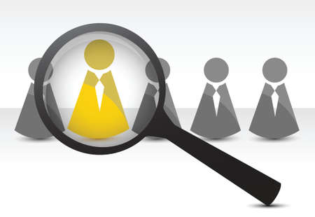 gespr�ch: Suche nach Talenten Konzept, Illustration, Design in wei� Illustration