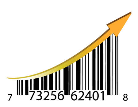 succes barcode illustratie ontwerp over een witte achtergrond
