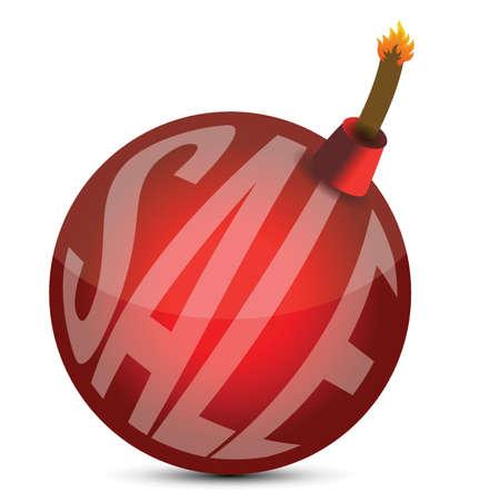 bomb price: sale bomb illustration design over a white background