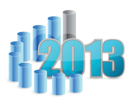 2013 business graph illustration design over a white background Vector