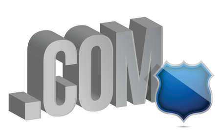 internet security concept illustration design over white Illustration