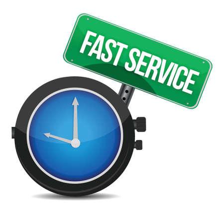 concepto de servicio rápido diseño ilustración sobre un fondo blanco Ilustración de vector