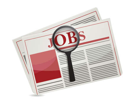 searching for jobs in the news paper illustration design