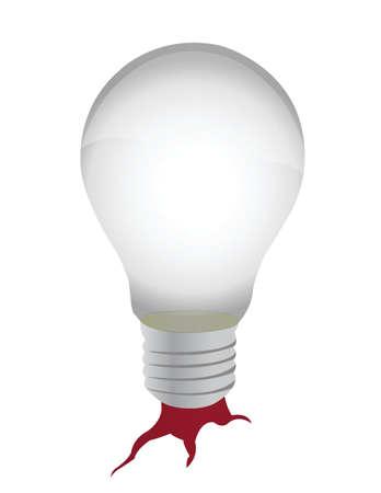 lightbulb tree illustration design over a white background