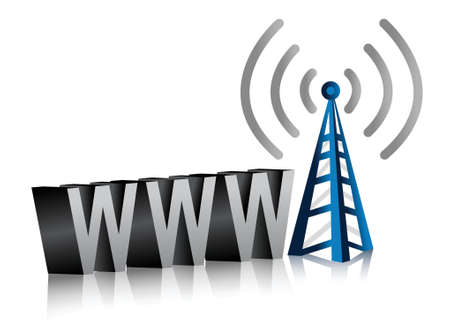 www wifi tower illustration design over a white background Illustration