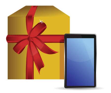 electronic background: electronic present illustration design over a white background Illustration