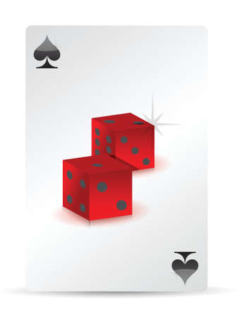 dice playing cards illustration design over a white background Stock Vector - 16380003