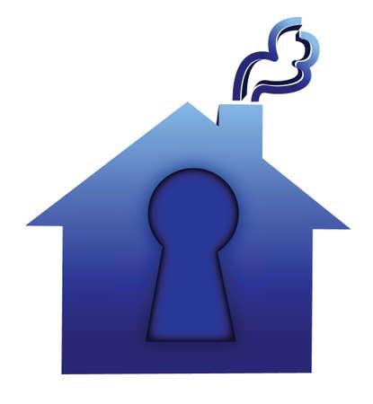 lock house illustration design over a white background 일러스트