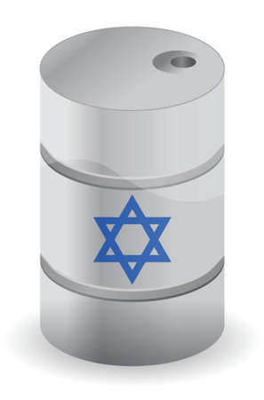israel oil barrel illustration design over a white background Banco de Imagens - 16380075