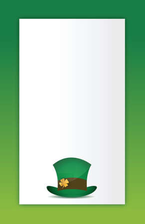saint patricks hat illustration design card background Vector