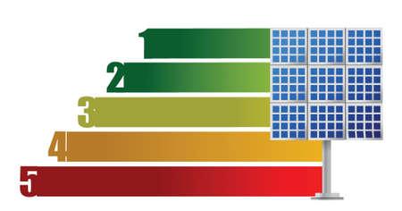 solar panel energy graph illustration design over white Vector