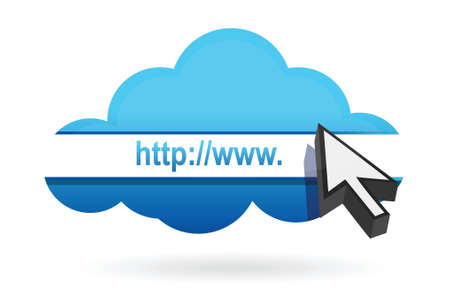 down arrow: http cloud illustration design over a white background