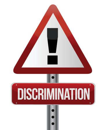 discrimination warning sign illustration design over a white background Stock Vector - 16437898