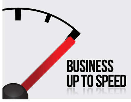 accelerate: Business up to speed concept illustration design over white