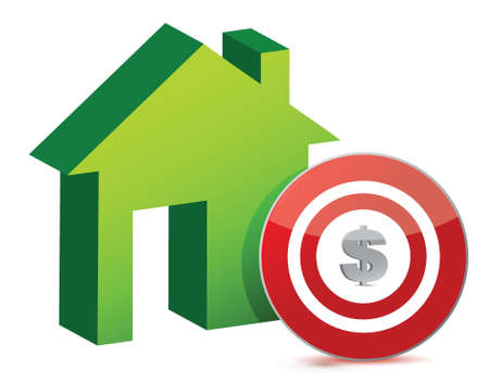 housing development: house and target illustration design over a white background
