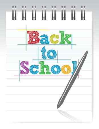 back to school and notepad illustration design Stock Vector - 16438003