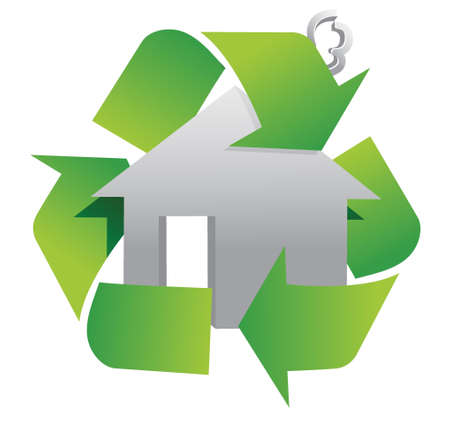 selling house: recycle sign symbol illustration design over white