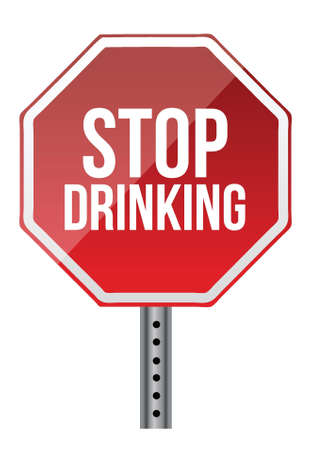 Stop drinking sign illustration design over a white background Stock Vector - 16437760